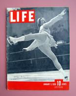 Autografo Vivi Anne Hulten Copertina Life 1938 Pattinatrice Olimpica Rockefeller - Zonder Classificatie