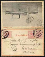 Egypt 1922 Rotterdamsche Lloyd SS TAMBORA Letter Card To Netherlands Bearing 3 X 5m Tied Port Taufik Date Stamp Of 31.JA - Unused Stamps