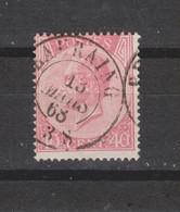 COB 20A Oblitération Centrale Double Cercle BEAURAING - 1865-1866 Profile Left