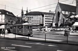 CPSM - BÂLE - Barlüsserplatz ... (Tramway) - BS Bâle-Ville