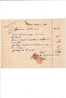 Facture Menuiserie PREVOST  à COURTENAY 45 Loiret - 1900 – 1949