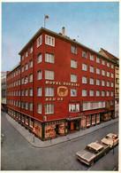 CPSM - BÂLE - Hôtel Touring & REX OX ... (voitures) - BS Bâle-Ville
