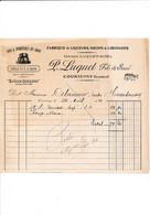 Facture Fabrique De Liqueurs LUQUET  à COURTENAY 45 Loiret - 1900 – 1949