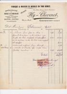 Facture Fabrique De MEUBLES HY THEVENOT   à COURTENAY 45 Loiret - 1900 – 1949