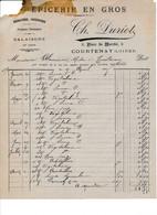 Facture épicerie DURIOT  à COURTENAY 45 Loiret - 1900 – 1949