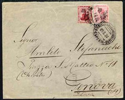 Egypt 1924 Ship Cover To Genova Bearing 5m (damaged) & 10m Adhesives Cancelled Steamboat ESPERIA Date Stamp Of 9.5.24 (M - Unused Stamps