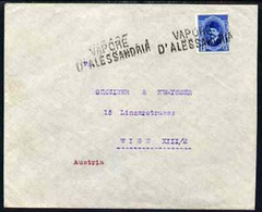 Egypt 1925c Ship Cover To Vienna, Austria Bearing Fuad 15m Cancelled By Straight Line VAPORE D'ALESSANDRIA Cachet In Bla - Unused Stamps