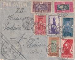 DAHOMEY 1942 PLI AERIEN EN FRANCHISE MILITAIRE DE COTONOU - Briefe U. Dokumente