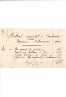 Facture Maréchal Ferrand VALSAT  à COURTENAY 45 Loiret - 1900 – 1949