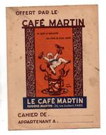 Protège-cahiersOffert Par Le Café Martin Le Café Le Meilleur Au Prix Le Plus Juste Paris Et Table De Multiplication - Omslagen Van Boeken