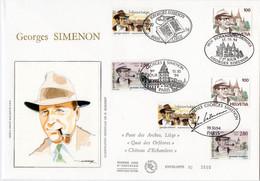 Premier Jour N° 2911 Georges Simenon 15/10/1994 Paris Liège Echandes-Denges édition Cérès OPP - 1990-1999