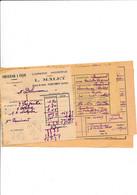 Facturette + Congé Cidrerie MALET  à COURTENAY 45 Loiret - 1900 – 1949