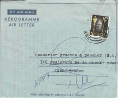 NIGER  LETTRE POUR LA FRANCE 1966 - Nigeria (1961-...)