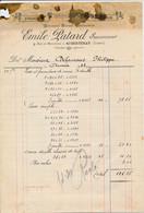 Facture Entreprise De Peinture ( Anc. Prochasson ) EMILE PATARD à COURTENAY 45 Loiret - 1900 – 1949