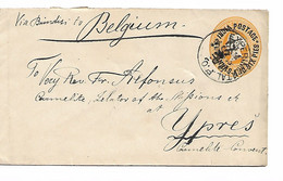 REF4434/ India PSL C.Experimental P.O. 1894 + Bombay&S.P. Office To Belgium Via Brindisi Ypres/Ieper Carmelite Convent - Covers