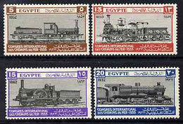 Egypt 1933 Railway Congress Set Of 4 Fine Mounted Mint, SG 189-92 - Unused Stamps