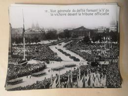 Photos Du Défilé De 1945  Paris - Place De La Concorde - Guerra, Militari