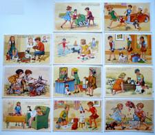 11 Cp - Fantaisie - Enfants En Adultes - Pique Nique - Infirmière - Plage - Peintre - Auto Oil - Pipe - Chat - Chien ... - 5 - 99 Postcards