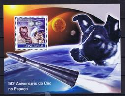 Guinea (Bissau) Space 2007 50th Anniversary Sputnik 2 And Laika - Guinea-Bissau