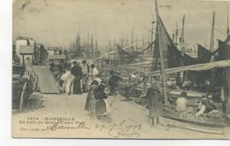 13/MARSEILLE - Un Coin Du Quai Du Vieux Port (BELLE CARTE VIVANTE, VOILIERS St PAUL) Edition Giletta - Old Port, Saint Victor, Le Panier