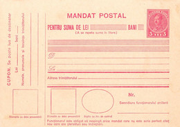 ROMÂNIA / ROUMANIE : MANDAT POSTAL - NEUZAT / MONEY ODER / UNUSED - 3 LEI / CAROL II ~ 1930 - '931 - RRR ! (ah462) - Entiers Postaux