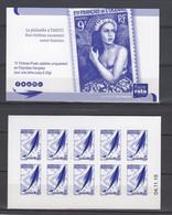 POLYNESIE. CARNET A USAGE COURANT BLEU Emblème Postal Bleu CD 04 11 19 Scan Recto Verso - Libretti