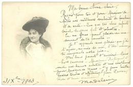 Cpa Carte-photo Femme Au Chapeau à Identifier   ( CPH ) - Non Classificati