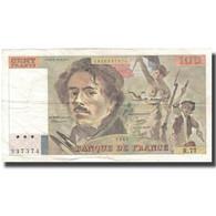France, 100 Francs, Delacroix, 1984, TTB, Fayette:69.08a, KM:154b - 100 F 1978-1995 ''Delacroix''