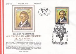 PLANTS, PAUL KITAIBEL, BOTANIST, COVER FDC, 1992, AUSTRIA - Sonstige