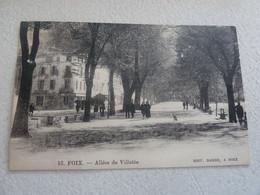 FOIX - Allée De Villotte - Editions Barbe - Année 1924 - - Foix