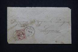 SUISSE - Enveloppe De Curio Pour Lugano En 1893 - L 99747 - Covers & Documents
