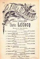 12 Partitions Paroles Et Musique Divers Genres Opéra Comique Opéra Chansons D'amour Folkloriqueé - Andere