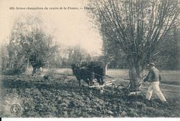 Scènes Champêtres Du Centre - Herseur - Attelage Herse Travail Aux Champs - édit Grand Bazar Tours (37 Indre Et Loire) - Sin Clasificación