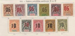 Anjouan Série Complété Avec Charniére Numero 20 A 30 Yvert Et Tellier - Unused Stamps