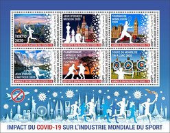 DJIBOUTI 2021 - COVID-19, Sports Industry. Official Issue [DJB210221] - Enfermedades