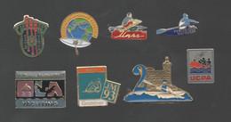 PINS PIN'S  CANOE KAYAK  AVIRON 721 UNSS MARSEILLEGESTENER  OLD RIVER D'ABOVILLE LOT 8 PINS - EDF GDF