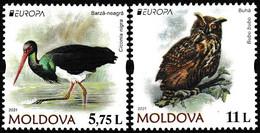 Europa Cept - 2021 - Moldova - 2.Stamps - (Wildlife) ** MNH - 2020