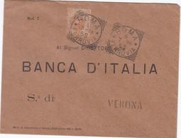 """1896 PERFIN, Busta Da Roma Con Cent 20 Umberto, Perfin """"BN"""", Non Comune Prima Del 1900 - Marcophilia"""