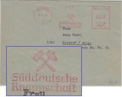 BRD - Süddeutsche Knappschaft 4 Pfg. AFS Drucksache München - Kardorf 1950 - Factories & Industries