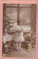 OLD PHOTO POSTCARD -   CHILDREN - CHRISTMAS - NOEL - DOLL AND TEDDY BEAR - Altri