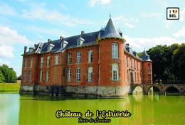 Set 4 Cartes Postales, Chateaux, Castles Of Belgium, Hainaut, Chateau De L'Estreverie (Bois-de-Lessines) - Castelli