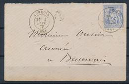EC-194: FRANCE: Lot  Avec N°68 (outremer Pâle) Sur Petite Enveloppe - 1876-1878 Sage (Type I)