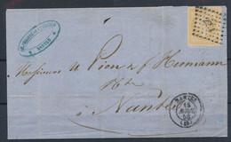 EC-195: FRANCE: Lot  Avec N°13Aa (citron) Sur Devant De Lettre - 1853-1860 Napoleon III