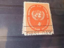 NATIONS UNIES NEW YORK  YVERT N°60 - Gebraucht