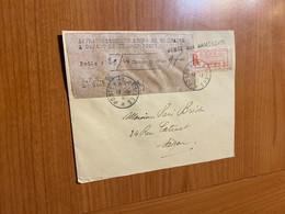 Lettre Indochine R 1946 - Cachet Poste Aux Armées - Affranchissement Perçu En Numéraire à Défaut De Timbres Poste - Brieven En Documenten