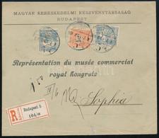 1900 Március 4. Vegyes Bérmentesítésű 5. Súlyfokozatú (60-75 Gr) Céges Ajánlott Levél (150f Tarifa) 50kr + 2 X 25f Bélye - Non Classificati