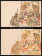 """1897 Milleniumi Levelezőlap """"Szt. Astrik átnyújtja A Koronát"""" Hátoldali Nyomat Nélkül, A Képoldalon A Fekete Szín és A F - Non Classificati"""