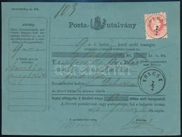 """1870 5kr Postautalványon / On Money Order """"KÖLCSE"""" - Non Classificati"""