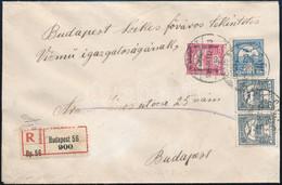 1916.okt.12. Ajánlott Helyi Levél Turul 3 X 1f + 2f + 10f + 25f (tarifahelyes 40f) Bérmentesítéssel. 1916 Okt. 1-től Hel - Non Classificati
