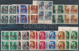 ** Rimaszombat 1945 13 Db Négyestömb, Minden érték Bodor Vizsgálójellel (84.000) / 13 Blocks Of 4. Signed: Bodor - Non Classificati